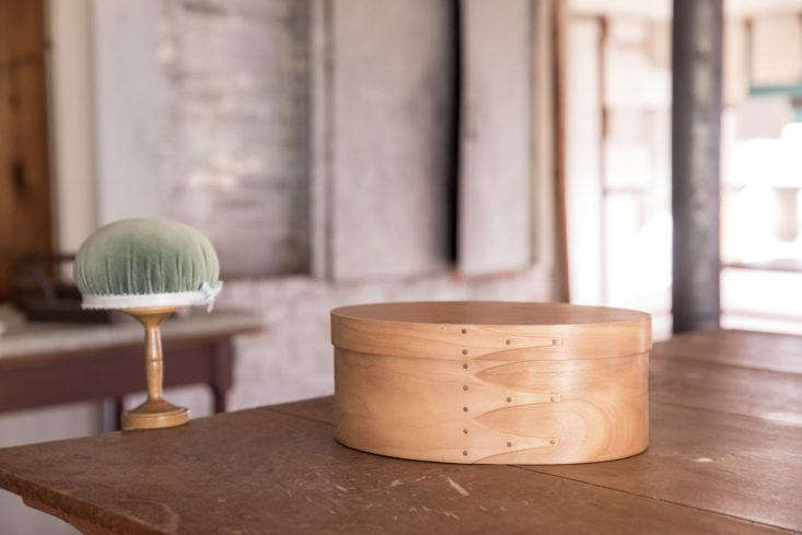 Sewing Box and Pin Cushion at Canterbury Shaker VIllage, Photo by Erin Little