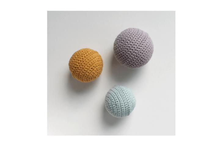 crocheted baby ball my mini studio