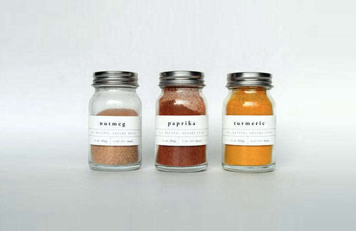 Custom Spice and Pantry Labels from Paper and Pear via Etsy