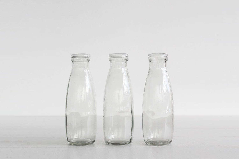 Father Rabbit Glass Milk Botles