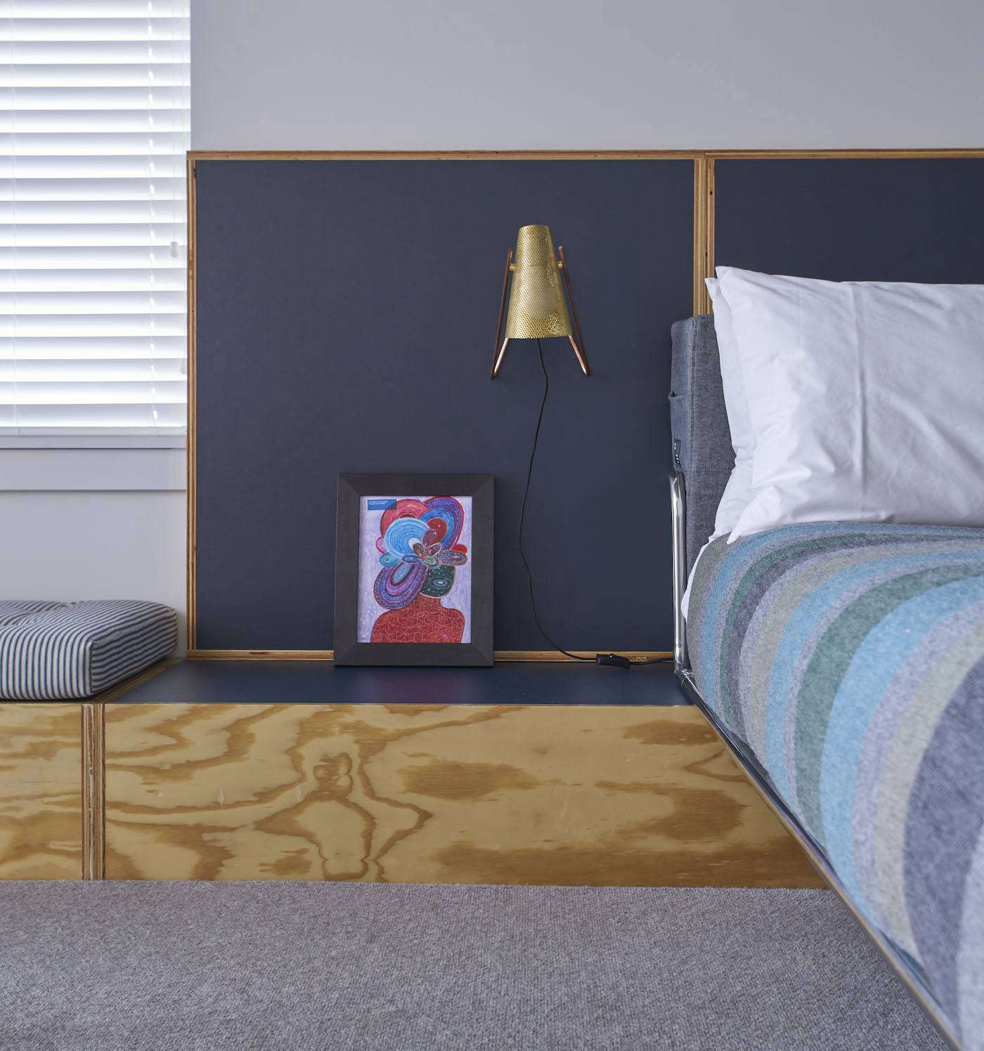 A Built-in Nightstand in a Guest Room at the Ace Hotel Chicago