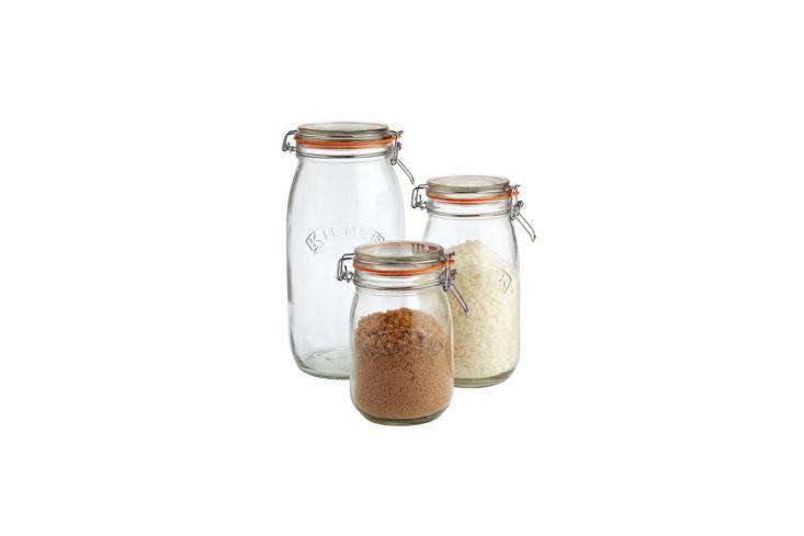 Kilner Round Hermetic Glass Jars from Container Store