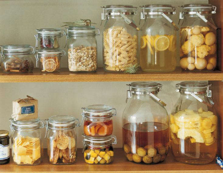 Soda Glass Airtight Jars from Muji are made in Italy; prices start at $6 for the smallest size and go up to $9 for the largest size.