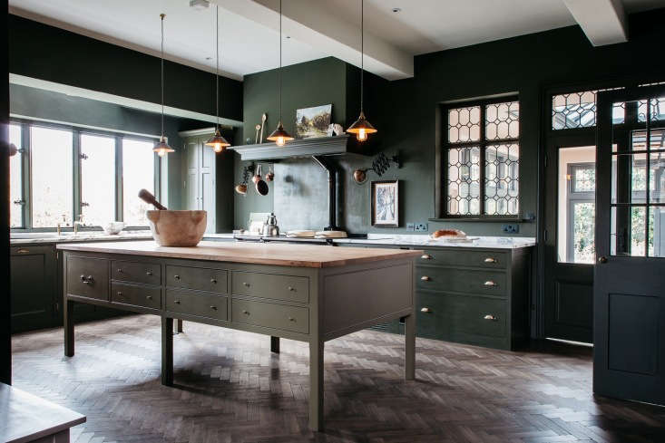Home House Green Kitchen in Shropshire by Plain English