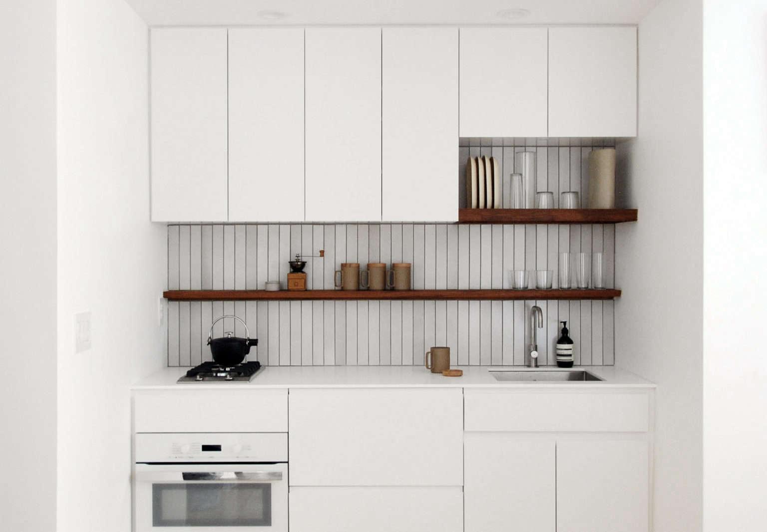 Tiny White Kitchen by Denise Lee
