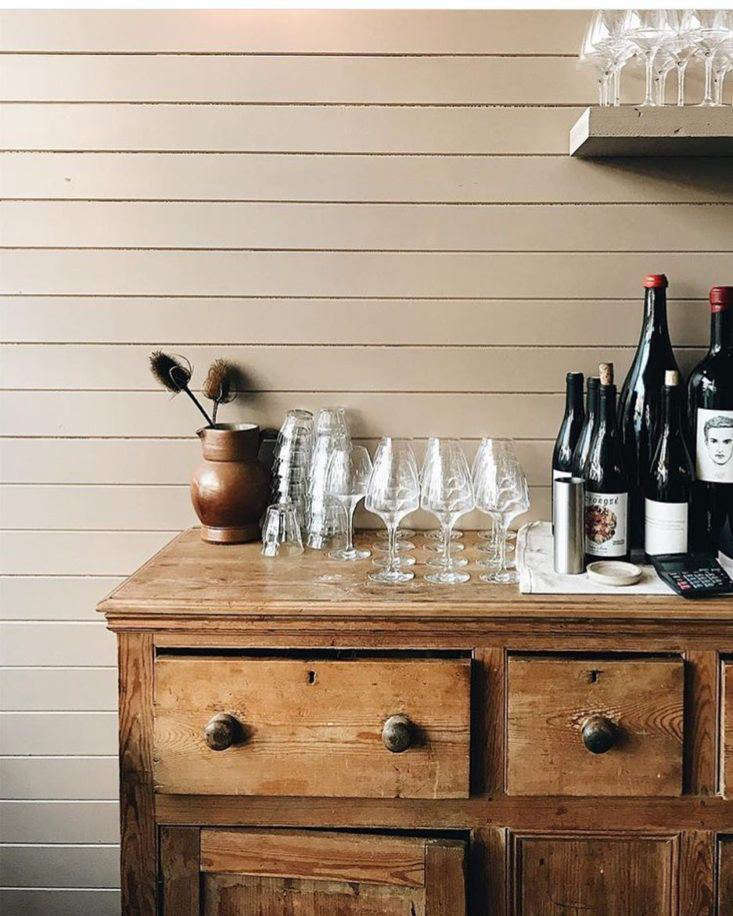 An evolving list of natural and biodynamic wines are served by the glass or bottle.