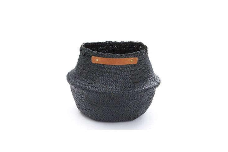 Candelabra Home Leather Handle Belly Basket