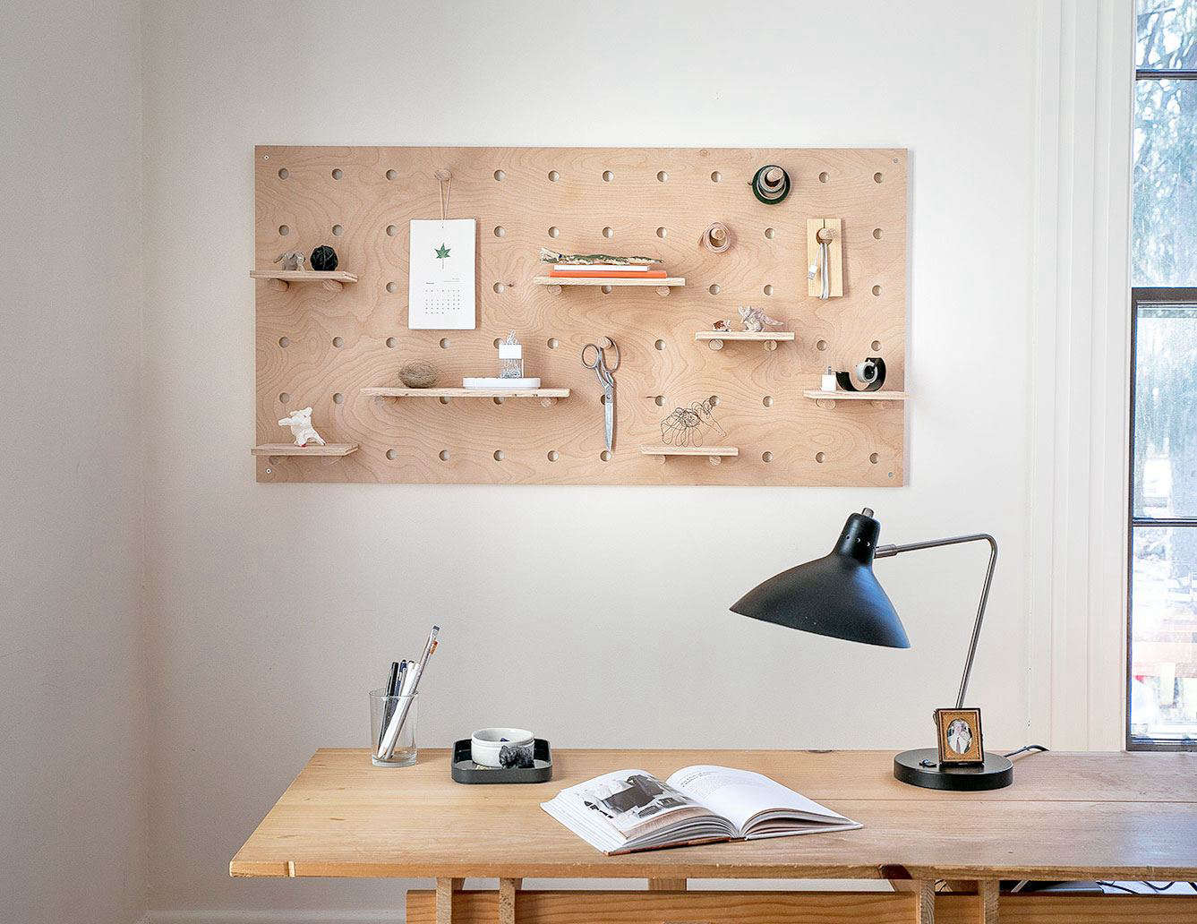 diy plywood pegboard large 2