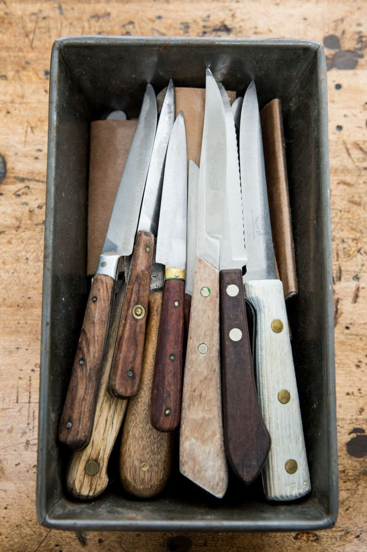 Knives in Loaf Pan in Erin Scott Photo Studio