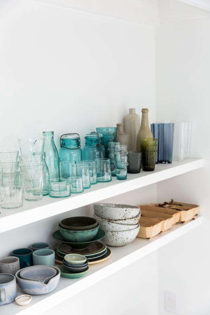 Shelves with Wooden Boxes in Erin Scott Photo Studio