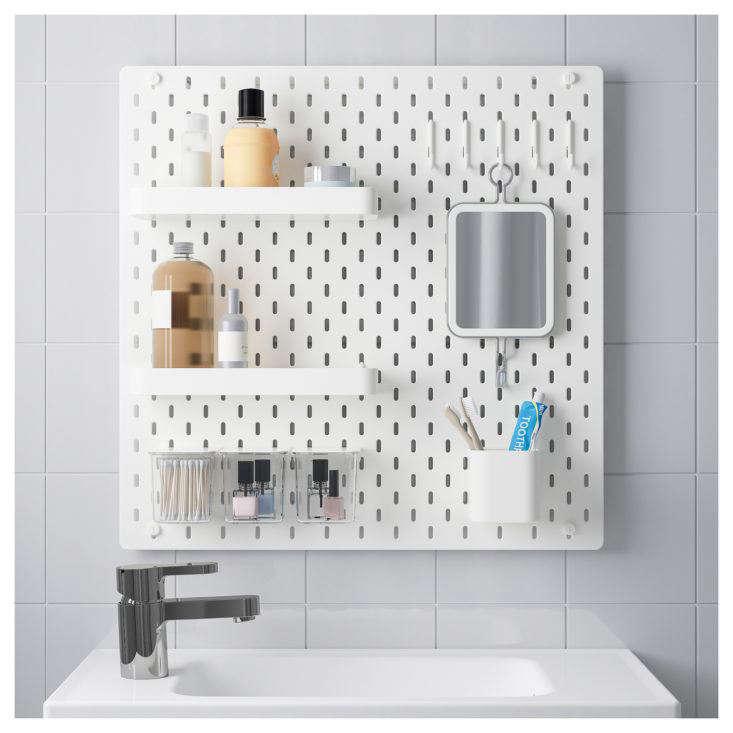 Ikea Skadis Pegboard in Bathroom