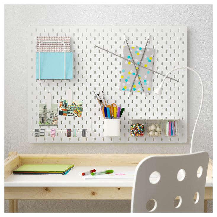 Ikea Skadis Pegboard Desk