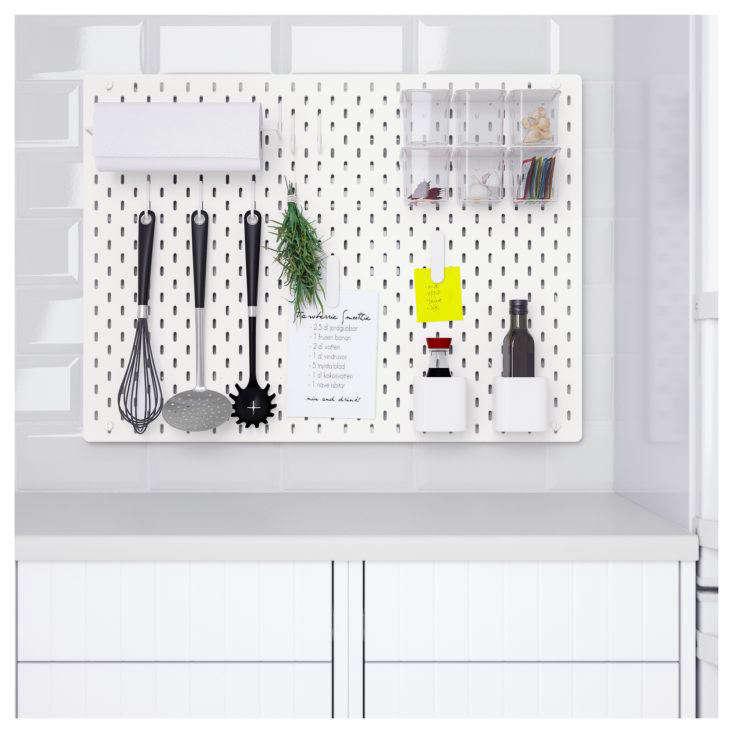Ikea Skadis Pegboard in Kitchen
