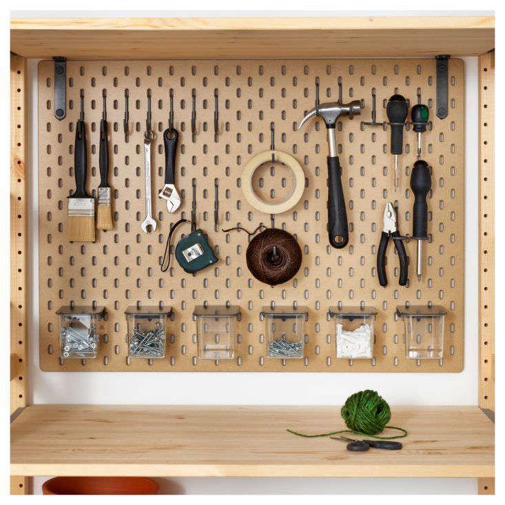 Ikea Skadis Pegboard for Tools Black Accessories
