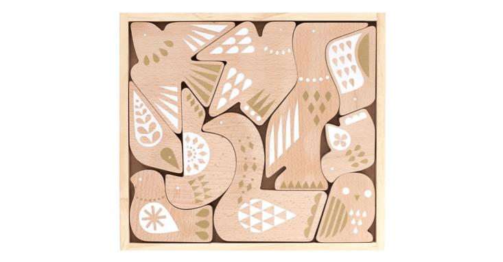 kids wooden bird puzzle petit collage