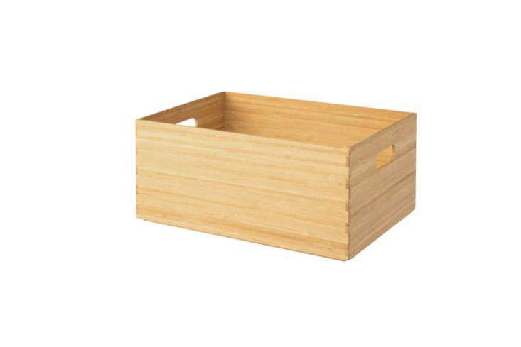 Muji Overlapped Bamboo Rectangular Box