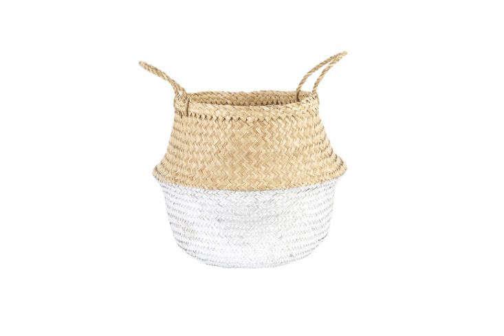 Olli Ella Silver-Dipped Belly Basket