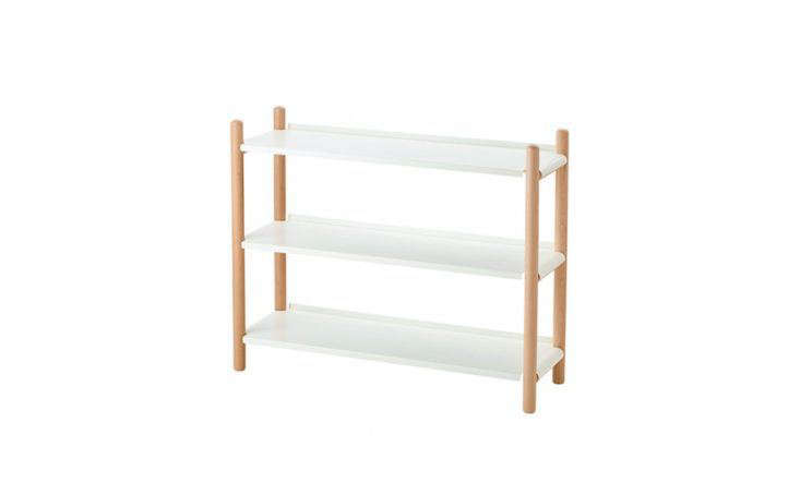 Though thisShelf Unit from Ikea's PS 2017 collection can be used for a variety of purposes, its proportions (35 inches wide and almost 12 inches deep) make it perfect for shoe storage in the entryway. Made of beechwood and powder-coated steel, it's $99.