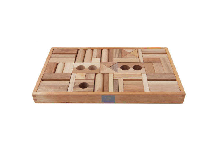 Wooden Story Natural Blocks with Tray