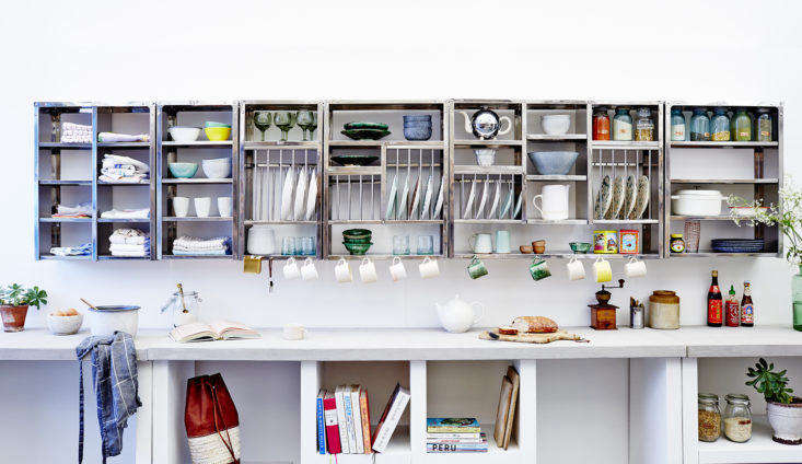 Stovold & Pogue Indian stainless steel kitchen rack and shelf grouping.