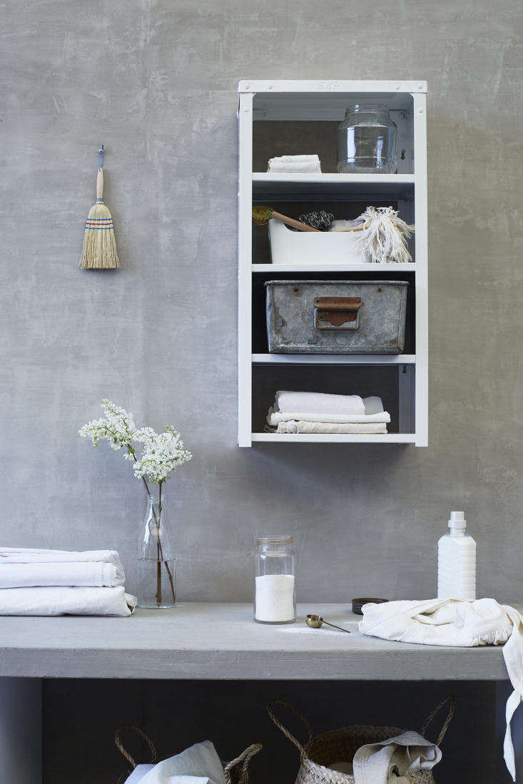 Stovold and Pogue Indian stainless-steel mini kitchen shelf in white.