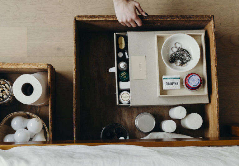 Annie Quigley's Vintage Wooden Underbed Storage Boxes, Photo by Mel Walbridge, Cover Image Cropped