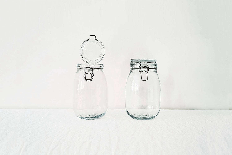 Ikea Korken Glass Top Clamp Jars