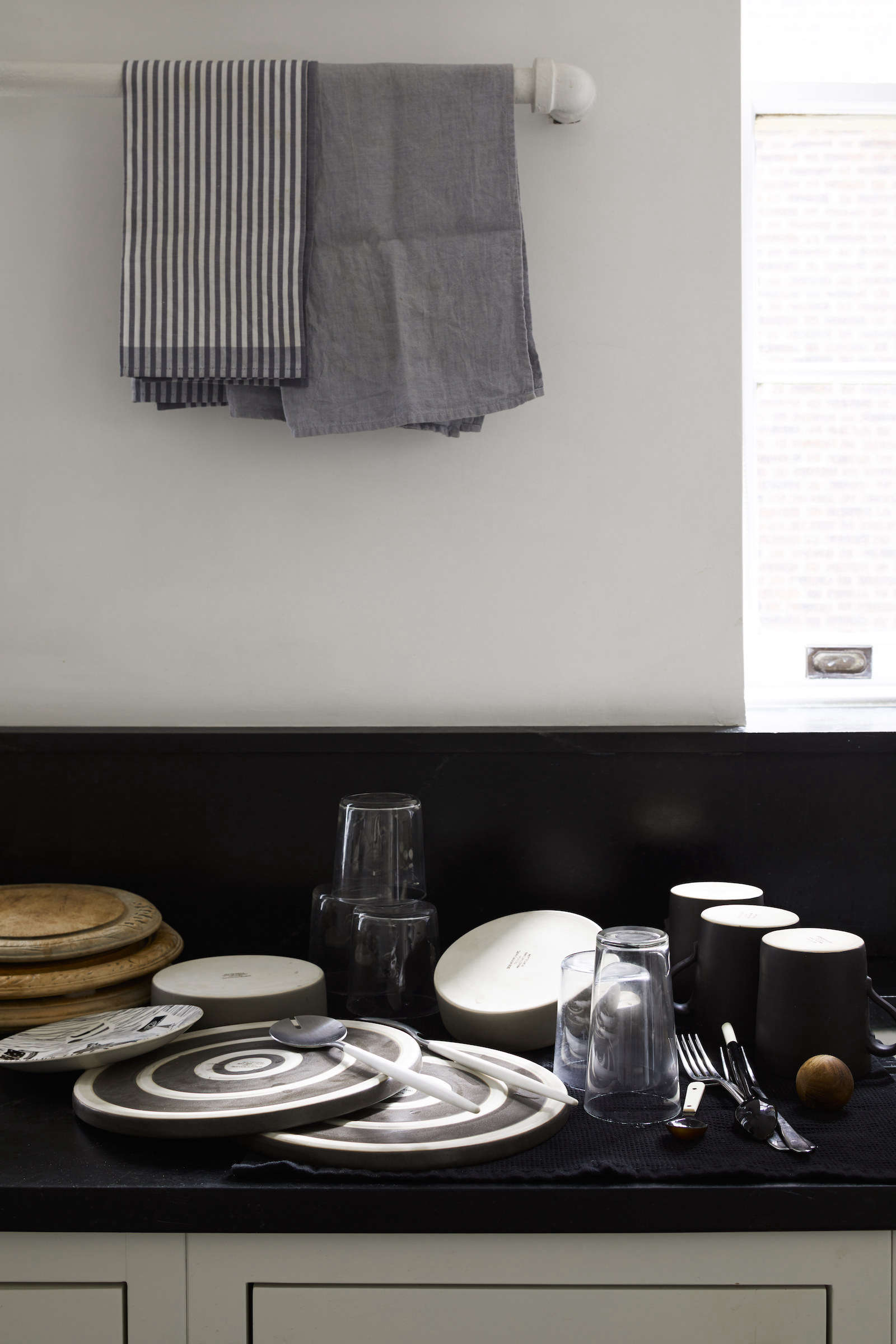 Matthew Axe Jackson Heights Apartment Dish Drying Towels by Eric Piasecki