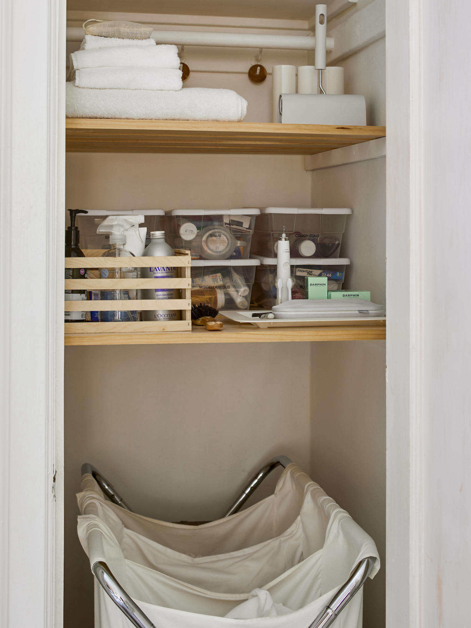 Matthew Axe Jackson Heights Apartment Linen Closet by Eric Piasecki
