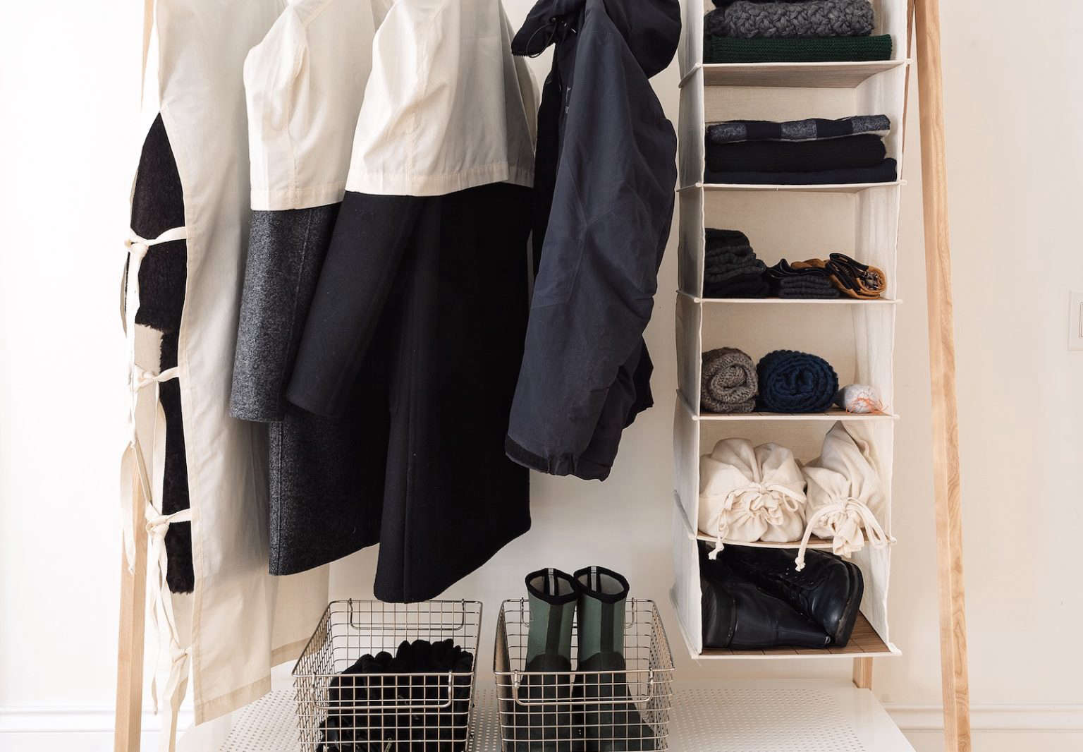 Out of Season Clothes Rack by Matthew Williams for The Organized Home