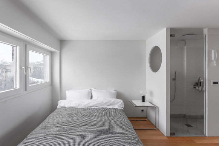 Bedroom in Moscow Apartment by Studio Bazi