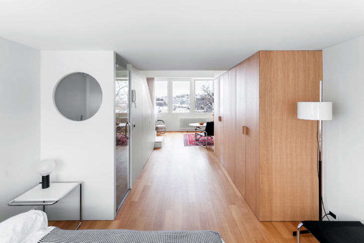 Hallway in Moscow Apartment by Studio Bazi