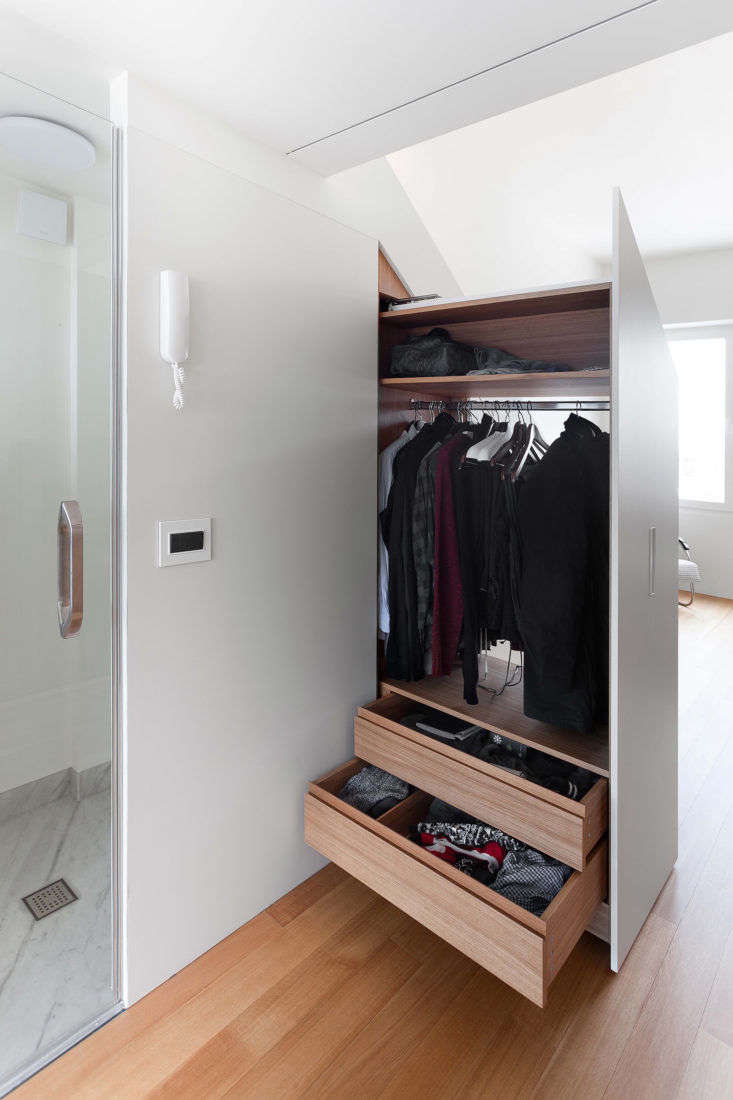Closet in Moscow Apartment by Studio Bazi