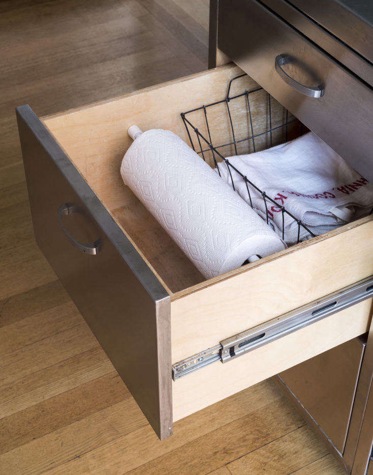 Tension Rod Paper Towel Holder in Drawer by Matthew Williams