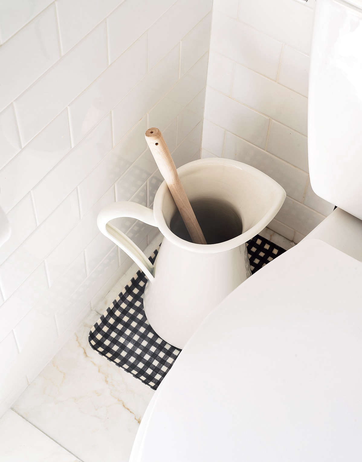 Aha! Hack: 3 Clever (and Attractive!) Ways to Store the Toilet Brush - The Organized Home