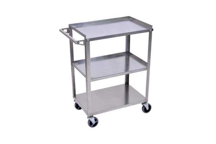 Webstaurant Luxor Stainless Steel 3-Shelf Utility Cart