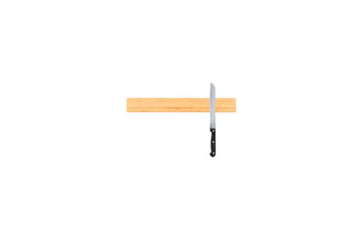 Webstaurant Mercer Culinary Bamboo Magnetic Knife Rack