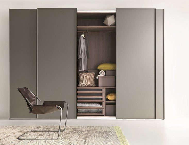 Lema modern wardrobe with metal doors