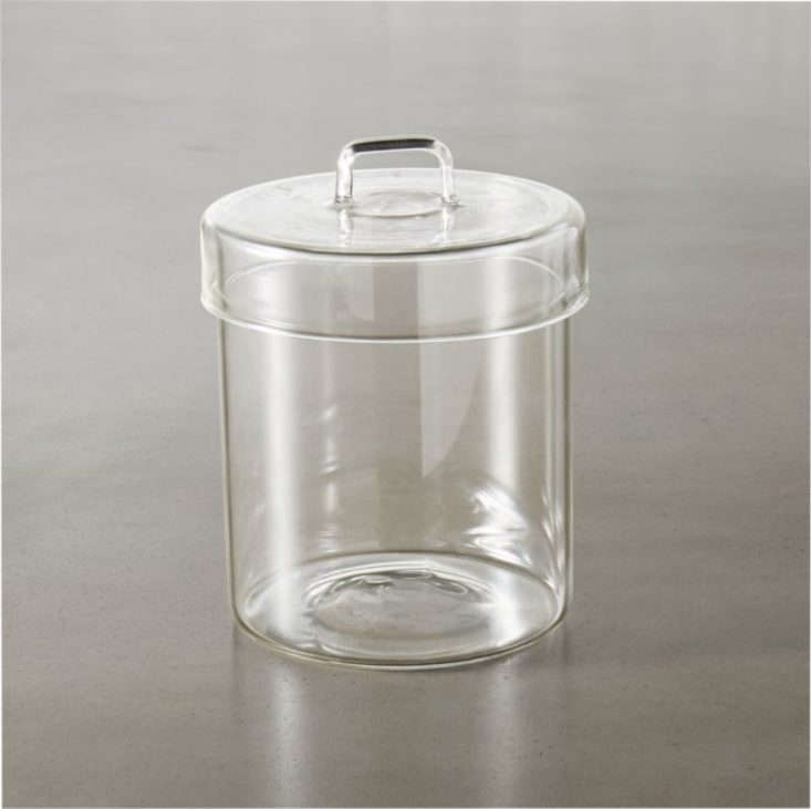 Pincher Glass Canister CB2.