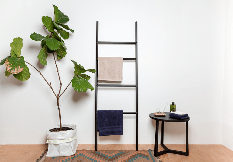 Aalo Ladder Towel Rack and Side Tray Table