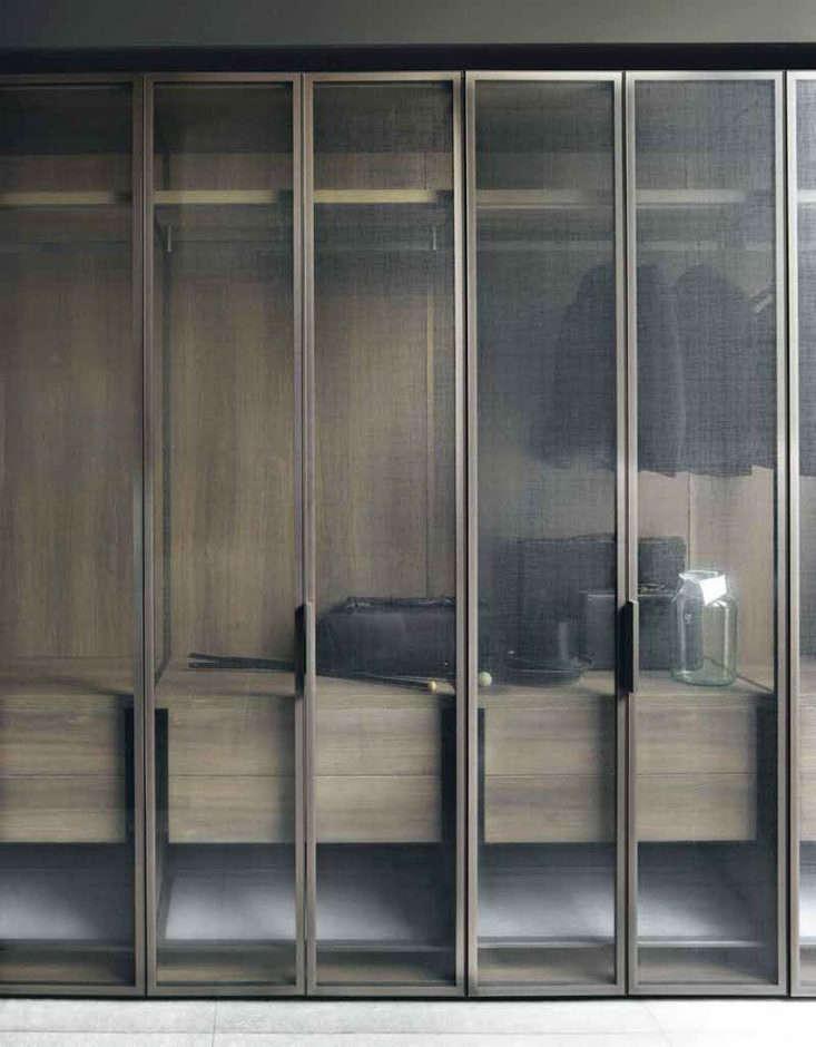 Boffi modern Italian closet with screens
