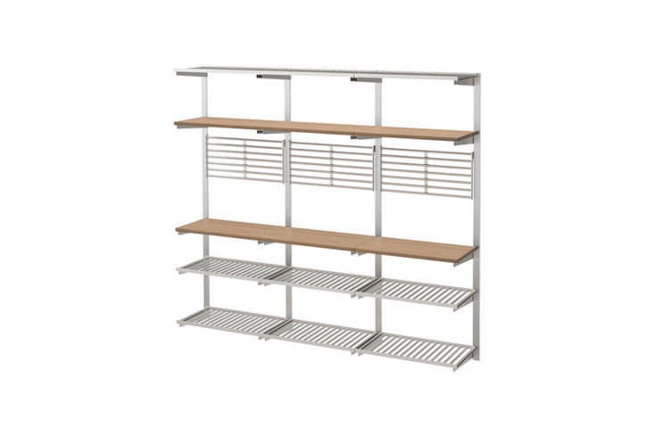 Kungsfors Suspension Rail with Shelf Wall Grid Ash