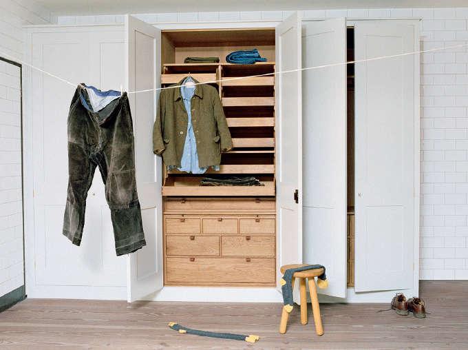 Plain English traditional wood wardrobes