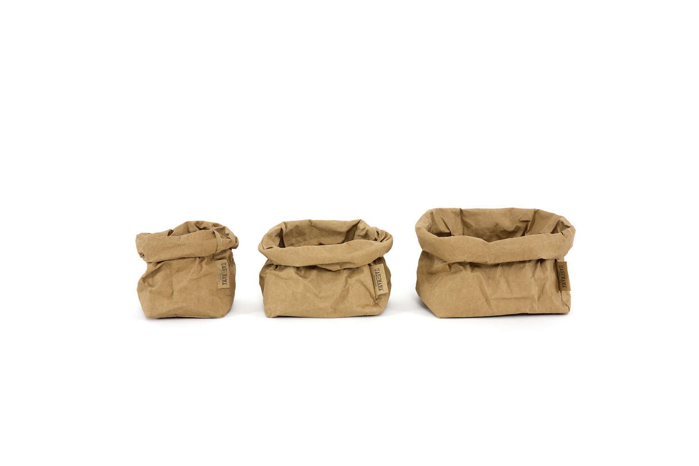 Uashmama Washable Paper Bag Brown