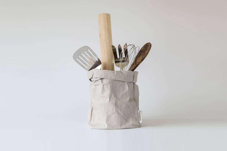 Uashmama Washable Paper Bag Grey