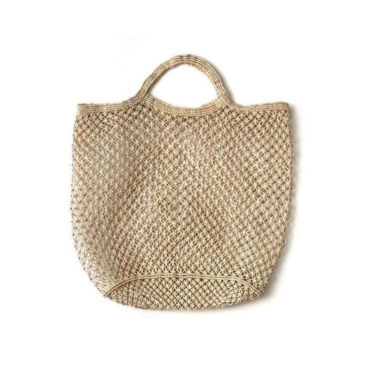Jute Macrame Market Bag Natural