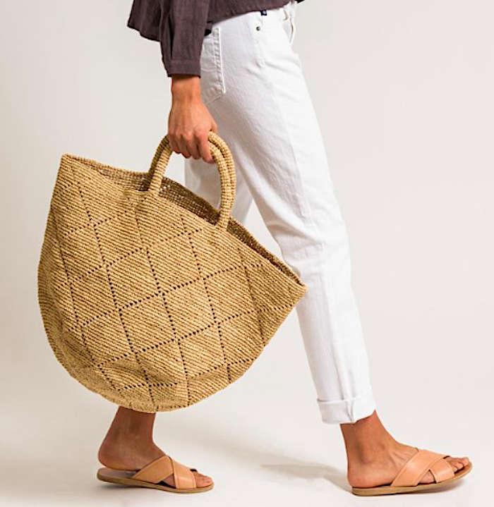 Sans Arcidet Raffia Large Kapity Bag