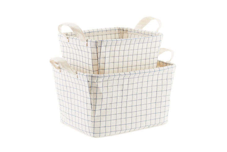 Canvas Quilted Bins from Container Store