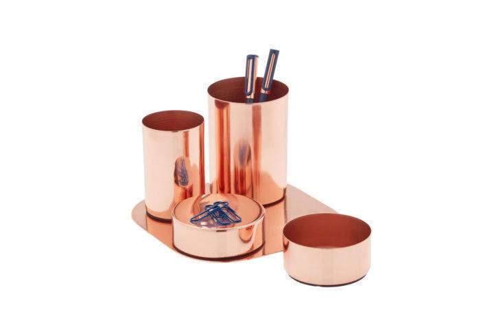 Copper Magnetic Desk Set from Container Store