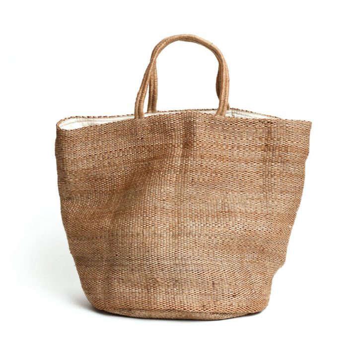 Hand Woven Jute Tote Bag Natural